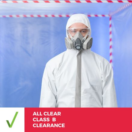 ALL CLEAR CLASS B ASBESTOS CLEARANCE INSPECTION –  Report/Certificate Within 2 Business Days